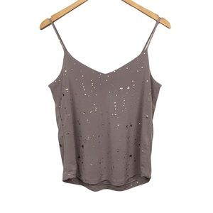 Sincerely Jules   Nora Metallic Camisole Gold Drip